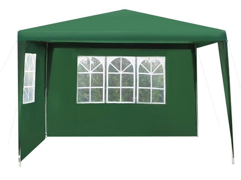 Malatec 1653 Záhradný párty stan 3 x 3 m + 2 bočné steny zelený