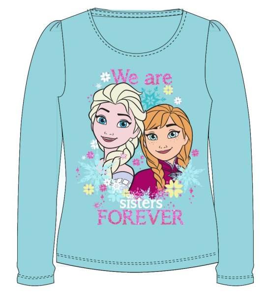 Javoli Detské tričko dlhý rukáv Disney Frozen Sisters veľ. 116 modré