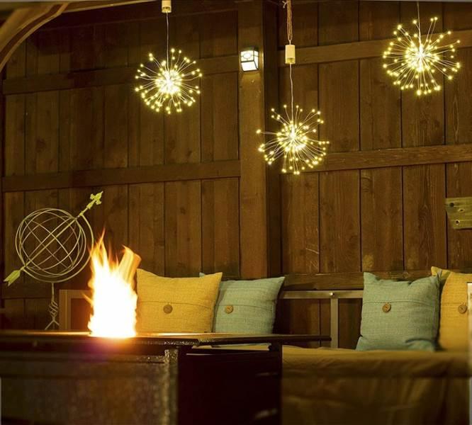 ISO 9515 Vánoční LED osvětlení ohňostroj 100 LED teplá bílá1