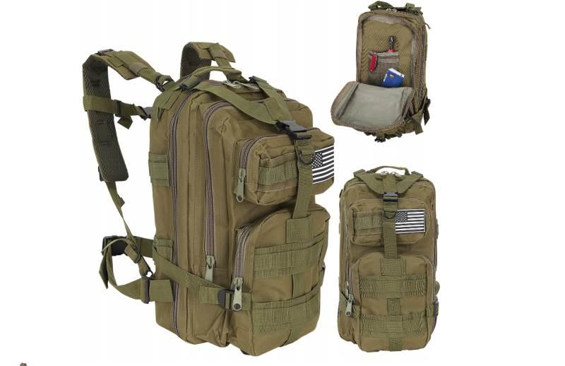 ISO 8916 Vojenský batoh 28L zelená