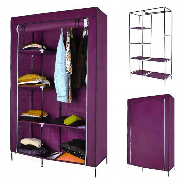 ISO 5351 Skříň na oblečení 103 cm × 170 cm × 43 cm fialová