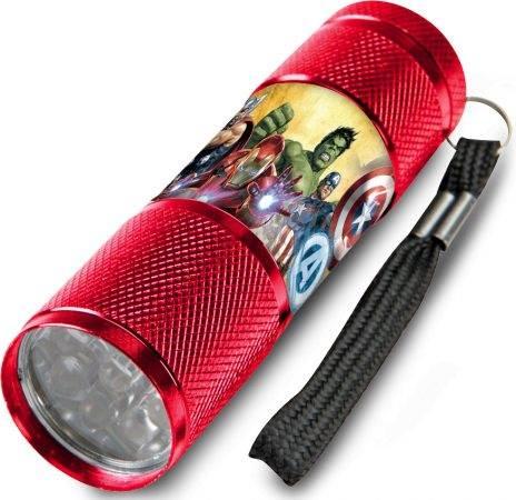 Javoli Detská hliníková LED svietidlo Avengers červená
