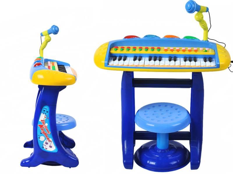 Enjoy HK-8020C elektronické klávesy s mikrofonem a stoličkou modré