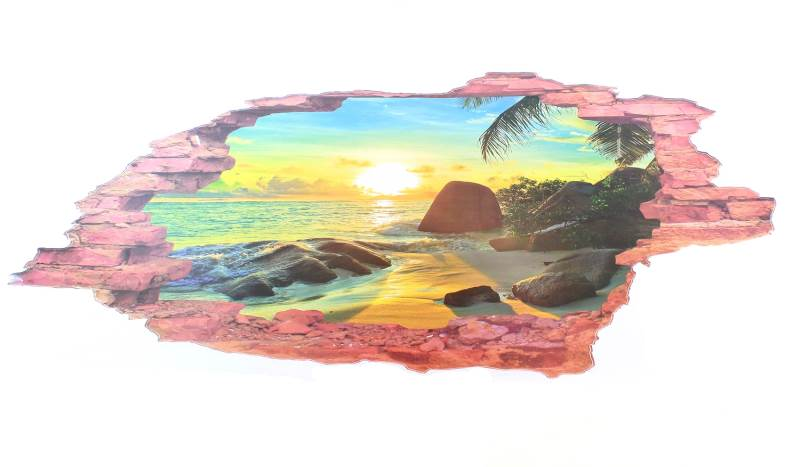 APT 3D nálepka na zeď západ slunce