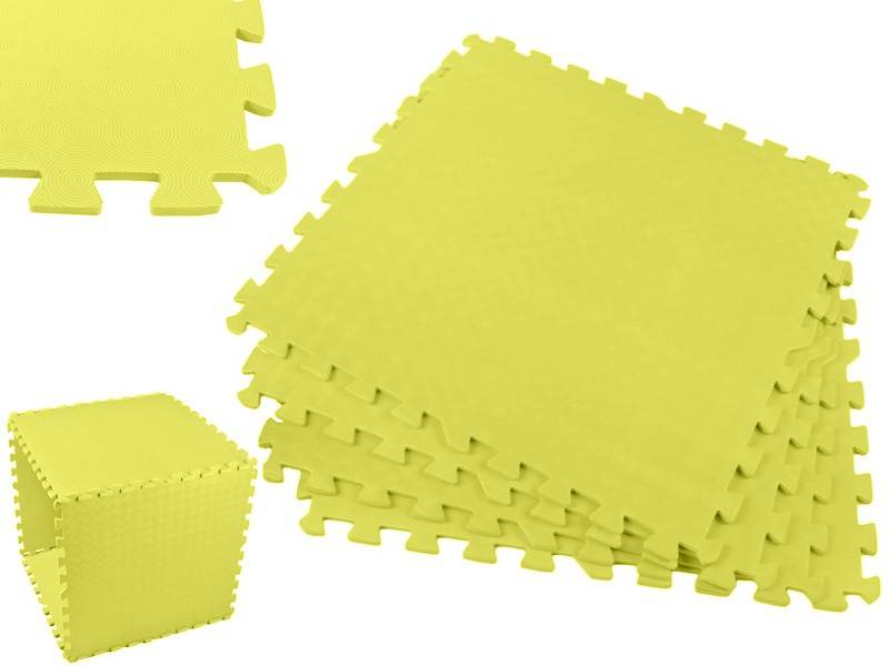 EVA Pěnový koberec 60 x 60cm - 4 ks žlutá bazar