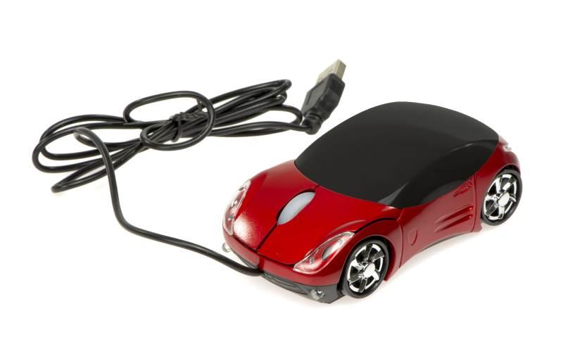 KIK Optická USB myš v tvare auta