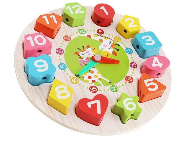 Kruzzel 9356 Dřevěné dětské edukační hodiny5