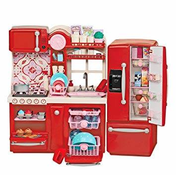 ISO 9425 Kuchynka pre bábiky červená