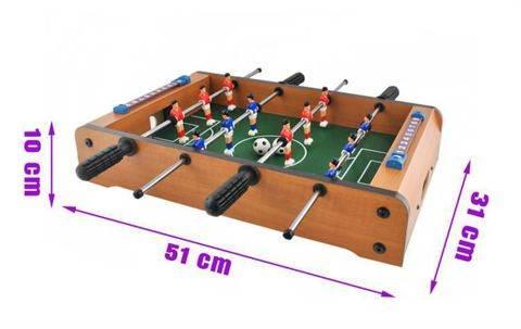 MAX Mini stolný futbal futbalček 51 x 31 x 8 cm svetlý3