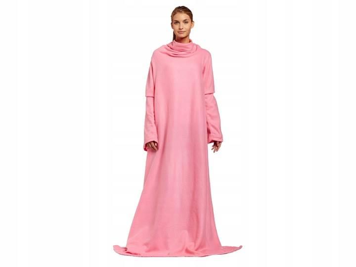 Verk Fleecová deka s rukávy Snuggie růžová