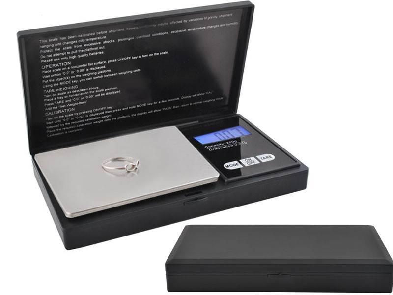ISO 2635 Vrecková digitálna váha Professional 200 / 0,01g