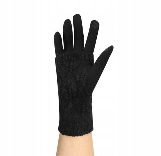 ISO 6413 Zimní rukavice na dotykové displeje 2v1 černé8
