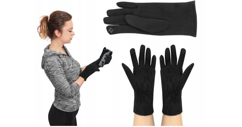 ISO 6413 Zimní rukavice na dotykové displeje 2v1 černé1 fbd3c9e1fa