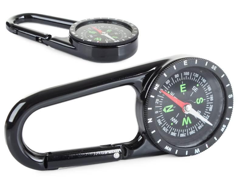 Verk Kompas na kovovej karabíne C40A