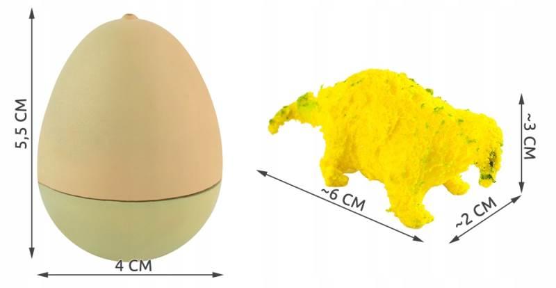 ISO 6156 Dinosaurus líhnoucí a rostoucí z vajíčka 6 cm10