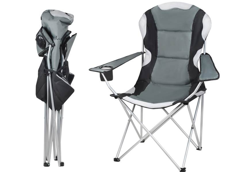 Malatec 2300 Záhradná a kempingový stoličky čalúnená šedá
