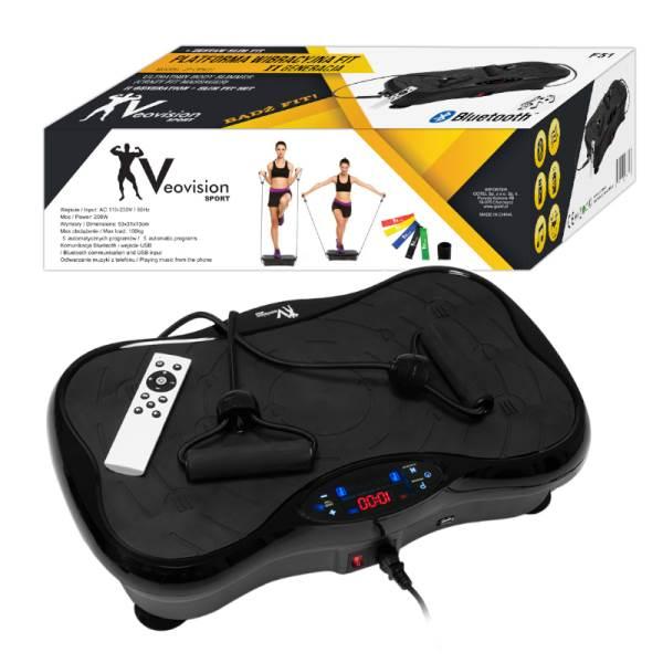 GT F51 Vibrační plošina Bluetooth s příslušenstvím černá2
