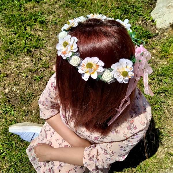 GFT Kvetinová čelenka - biela