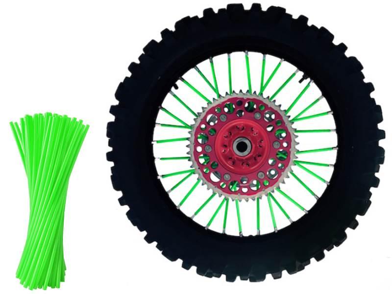 ISO 5172 Plastové návleky na špice motocykli 72 ks - zelené