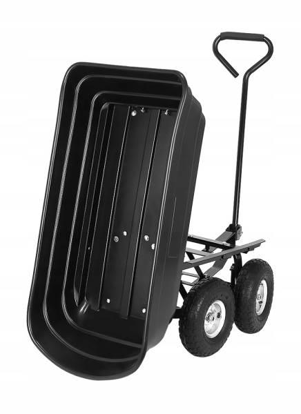 Malatec 9043 Zahradní přepravní vozík výklopný 350 Kg černá7