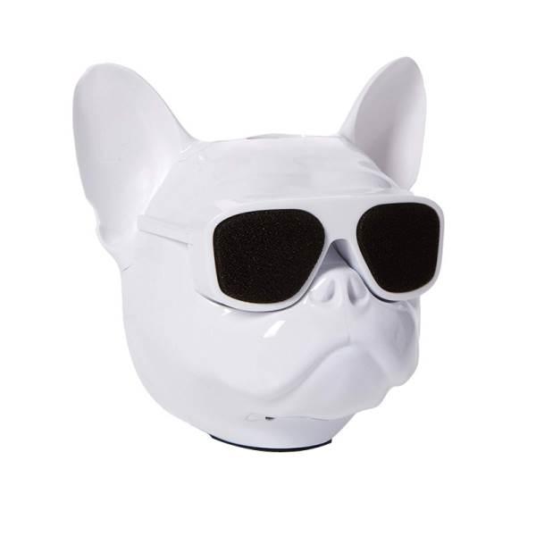GT K19G Bluetooth reproduktor Psí hlava bílá