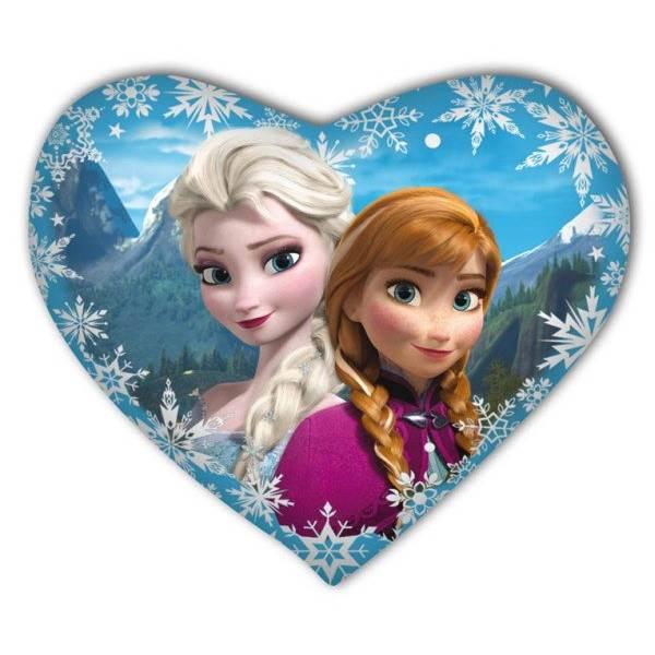 ISO Plyšový polštář Frozen srdce 37 x 30 cm