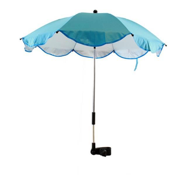 APT Slunečník na kočárek 66 cm modrý