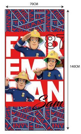 Javoli Osuška Požiarnik Sam 70 x 140 cm