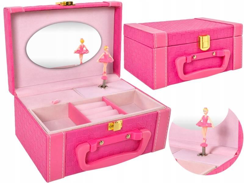 ISO 8538 Hracia skrinka s baletkou ružová