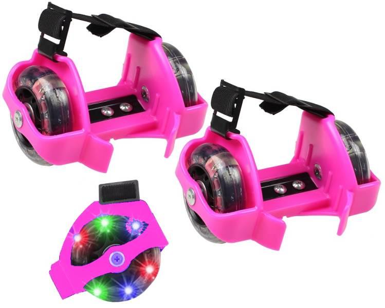 APT AG234A Svítící LED kolečka na boty růžová1 d498019ce1