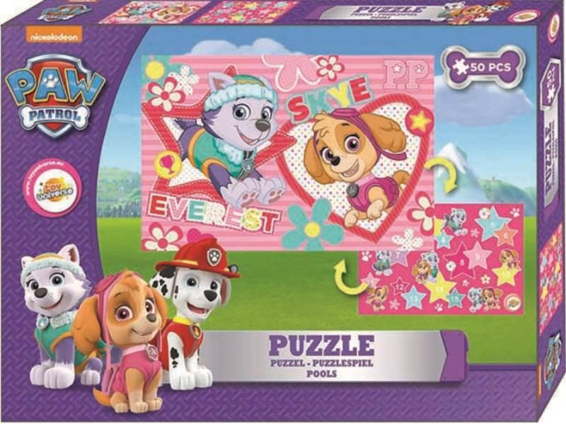 Javoli Puzzle Paw Patrol 50 dílků Dívčí 1