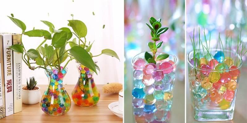 ISO Vodné perly - gelové guličky do vázy 5g