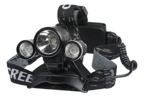 KIK Čelovka High Power ZOOM 2 x CREE XPE + 1x XPE-T6 LED