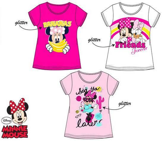 Javoli Detské tričko krátky rukáv Disney Minnie veľ. 104 svetloružové