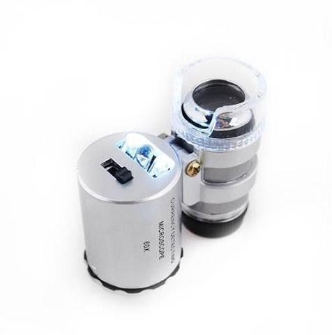 ISO Vreckový mikroskop s LED osvetlením 60x ZOOM