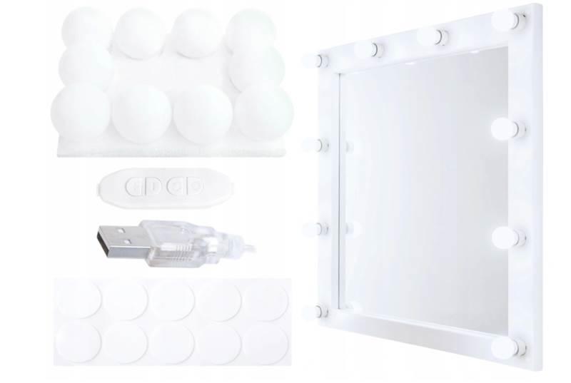 ISO 10529 Led svetla na zrkadlo k toaletnému stolíku 10 ks