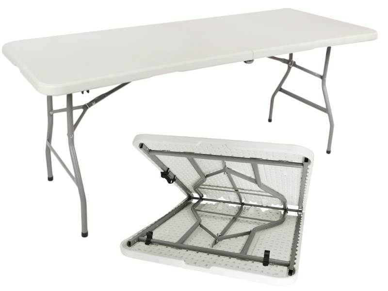 Malatec 2467 Skladací stôl 180 cm biely