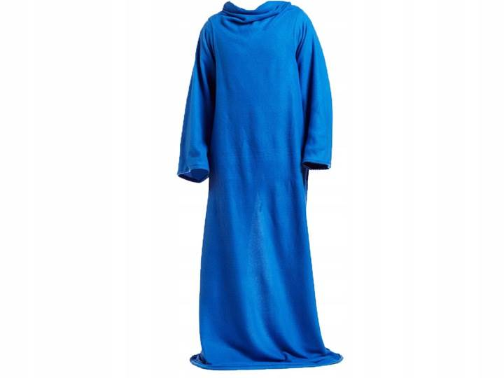 Verk Fleecová deka s rukávy Snuggie modrá