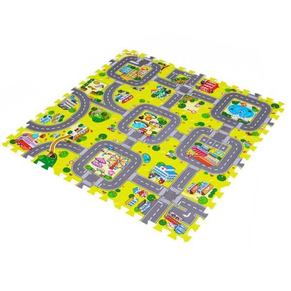 EVA Pěnový koberec 30 x 30 cm město 9ks