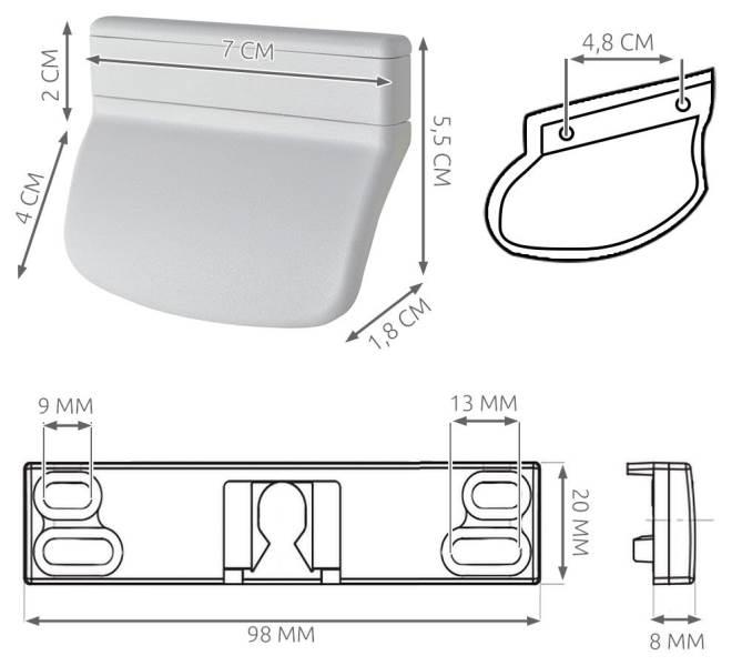 ISO 8536 Balkonové madlo se západkou dub5
