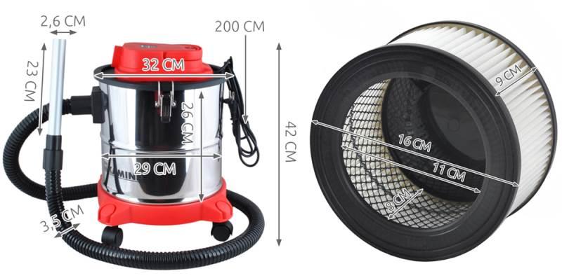 Elektrický vysávač na popol 20 l - Kaminer ODK-0052