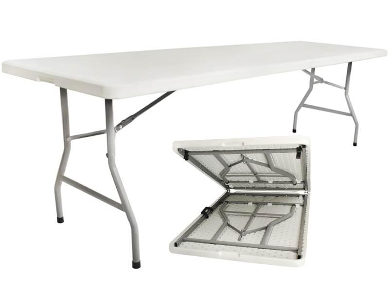 Malatec 2466 Skladací stôl 240cm biely