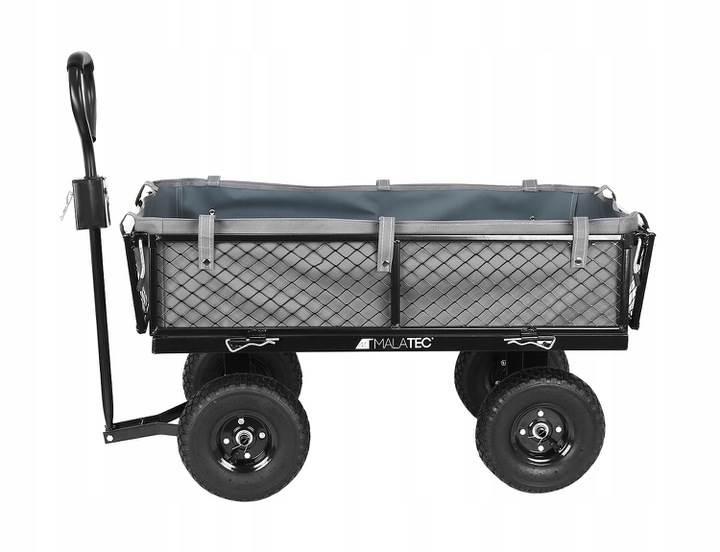 Malatec 9032 Záhradný vozík s výklopnými bokmi nosnosť 350 Kg7