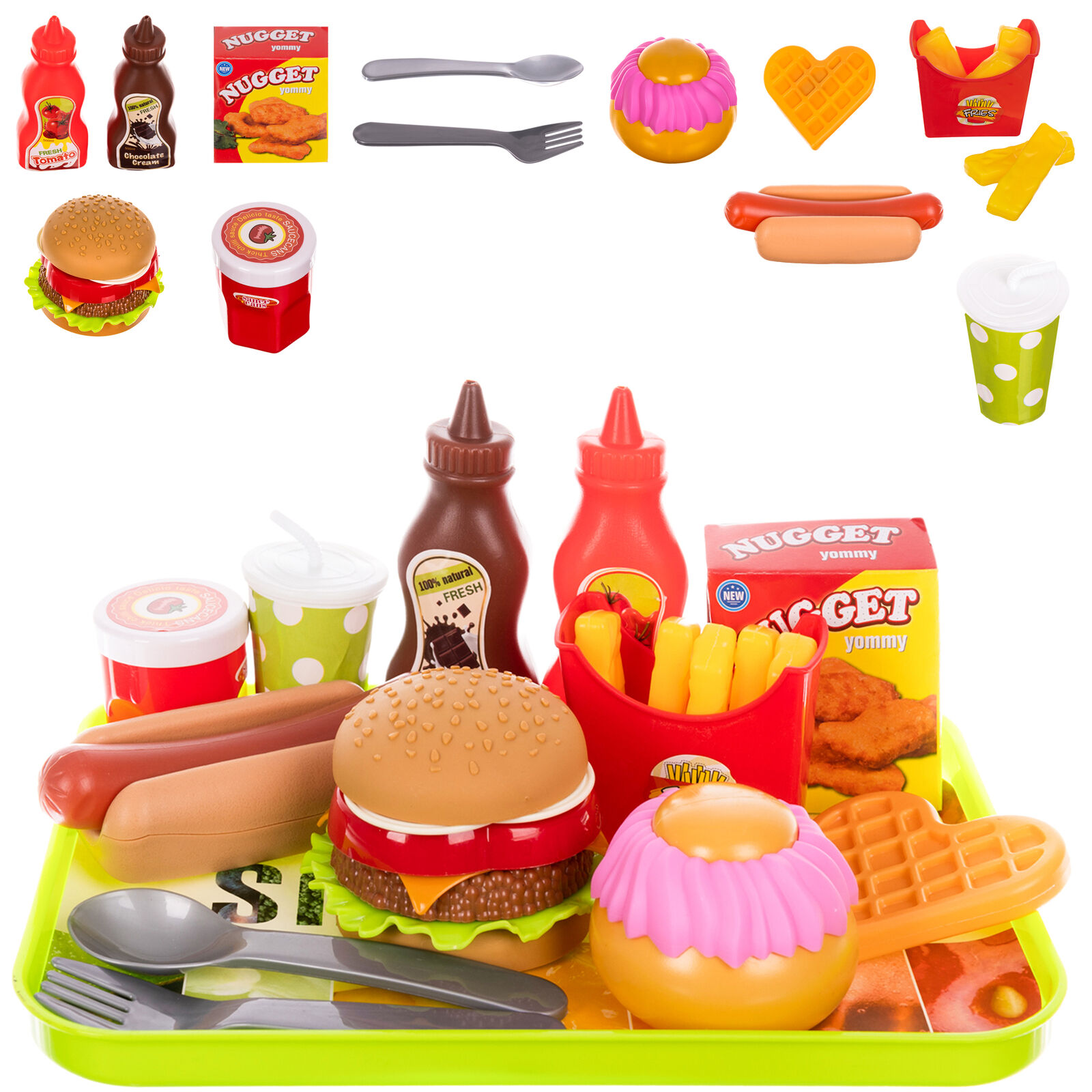 ISO Plastový Fast food set pro děti