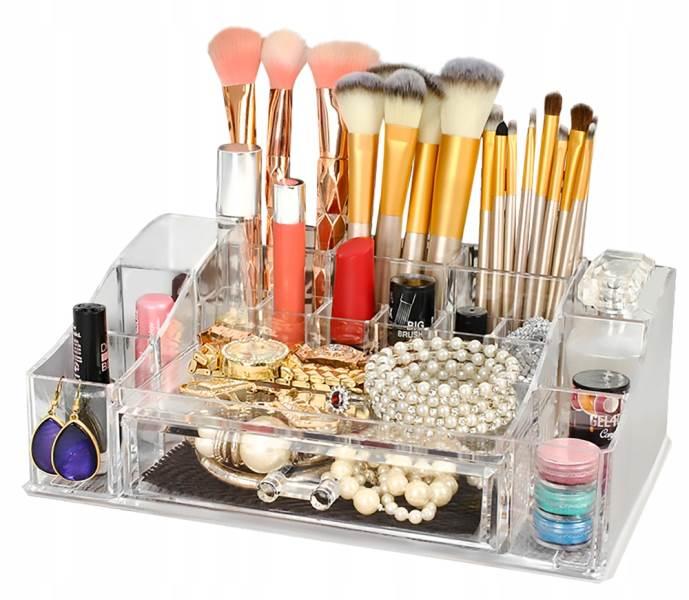 ISO 5333 Průhledný organizér na kosmetiku XL6