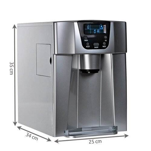 Malatec 9815 Výrobník ledu s dispenzerem vody 12Kg/24h šedý10
