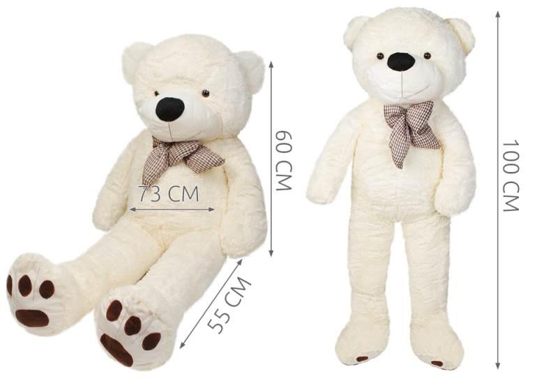 Velký plyšový medvěd bílý 100 cm2