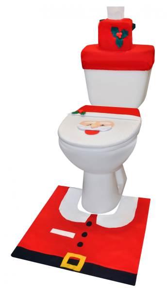 Vánoční potah na toaletu Santa Claus3