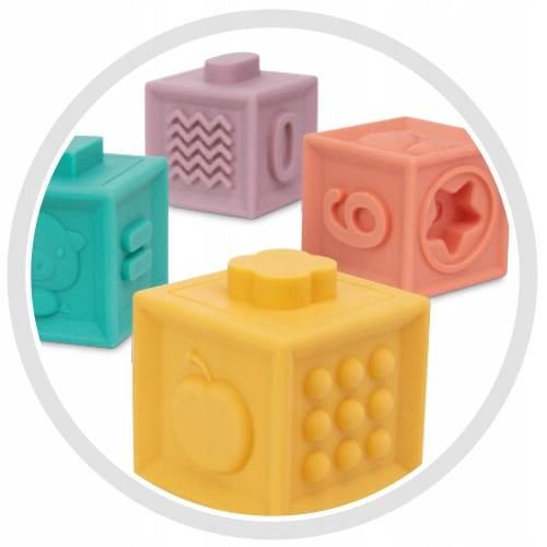 KIK Měkké senzorické hrací kostky 10 ks5