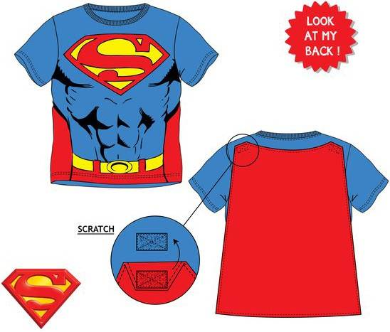 Javoli Detské tričko krátky rukáv Superman s plášťom vel. 128 modré